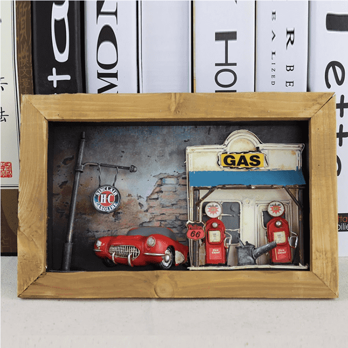Vette Vintage 3D Shadow Box
