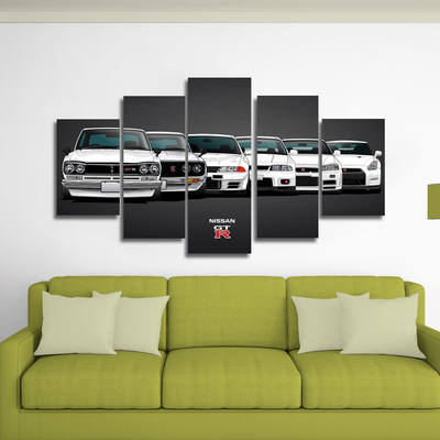 Nissan skyline gtr canvas wall art