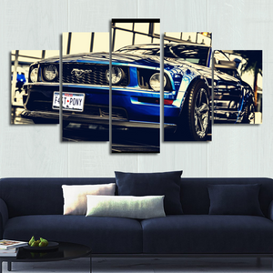 Stang Canvas Wall Art