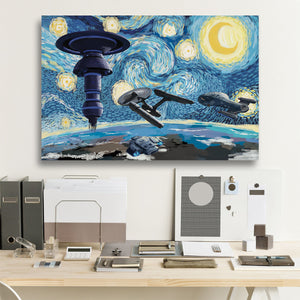 S.T. Starry Night Framed Canvas Prints (new version)