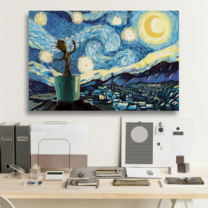 GR Starry Night Framed Canvas Prints