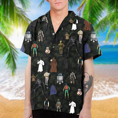 S.W Characters Collection Art Hawaiian Shirt and Beach Short