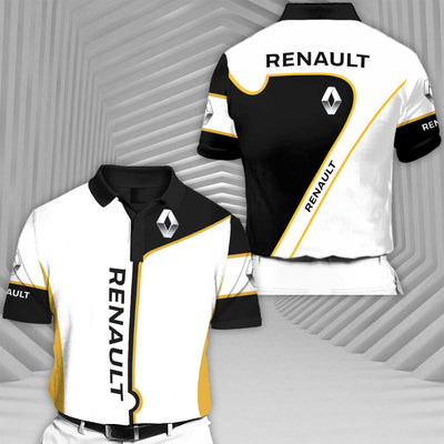 Renault-RCV1 Racing Series Short Sleeve Polo T-Shirt