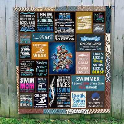 Swimming Art Quilt
