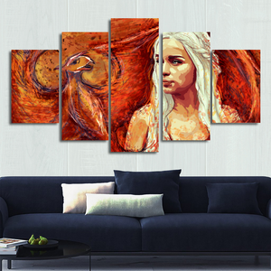 Mother Dragon Canvas Wall Art