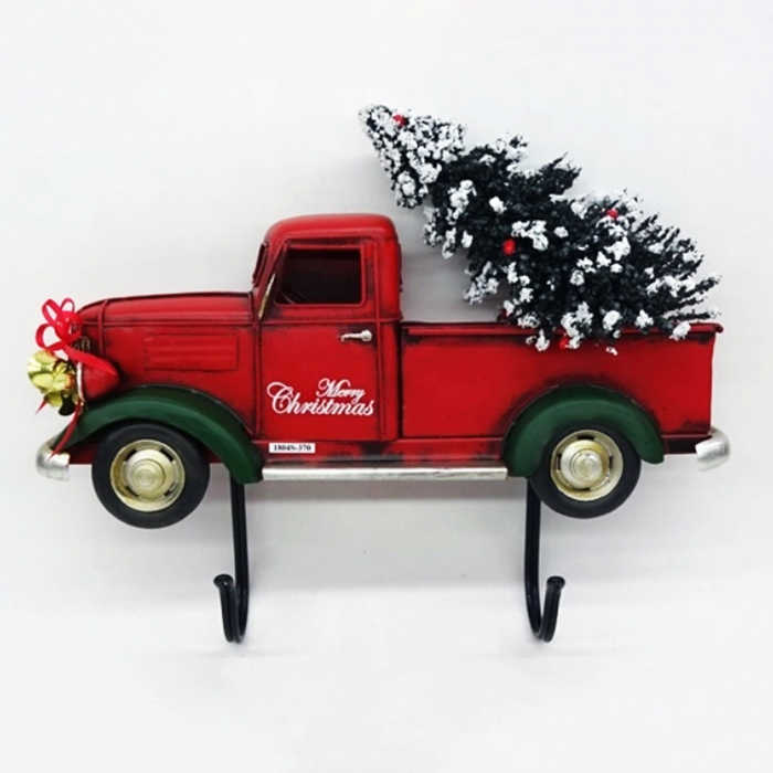 Vintage Christmas Half Car Wall Decoration