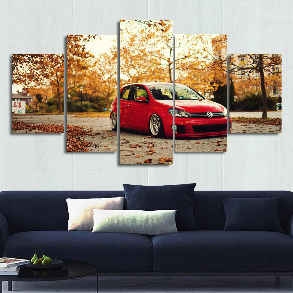 VW Golf Canvas Wall Art