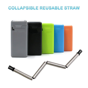 Folding Drinking Straw Stainless Steel - Buy1More