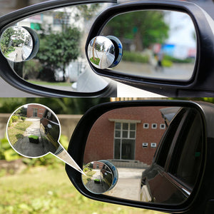 360° Round HD Glass Convex Rear View Mirrors  (2 Pack) - Buy1More