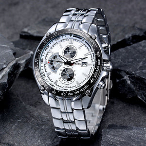 Luxury Watch Fashion Men Stainless WaterProof - Buy1More