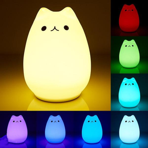 Smart Touch Color-changing Cat Lamp