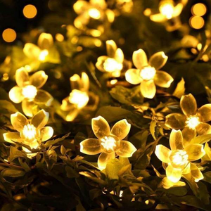 Solar-Powered Blossom Flower String Lights