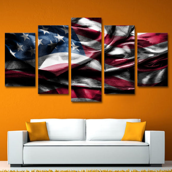 5 Piece Painting Canvas USA Flag - Buy1More