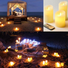 Ivory Dancing Flame Candle Set (3Pcs) - Buy1More