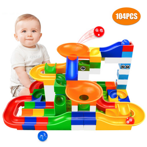 Race Track Toy Building Maze Blocks (104Pcs)