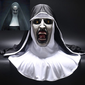 Halloween Valak Scary Latex Mask