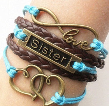 Leather Bracelet Braided Anchors - Buy1More