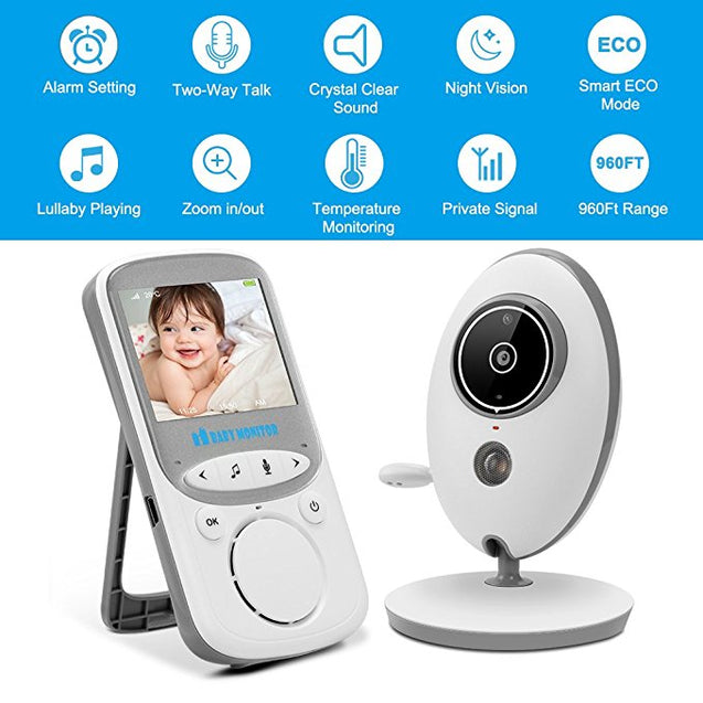 Video Baby Monitor Wireless with Digital Camera Night Vision