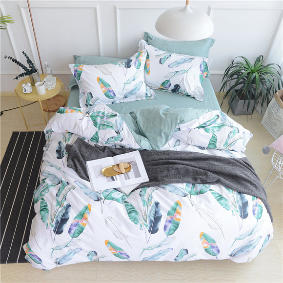Bedding Set Natural Leaves - Buy1More