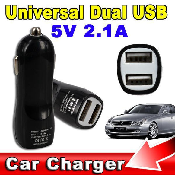 High Quality Car Charger With 2 USB Port  5V 2.1A