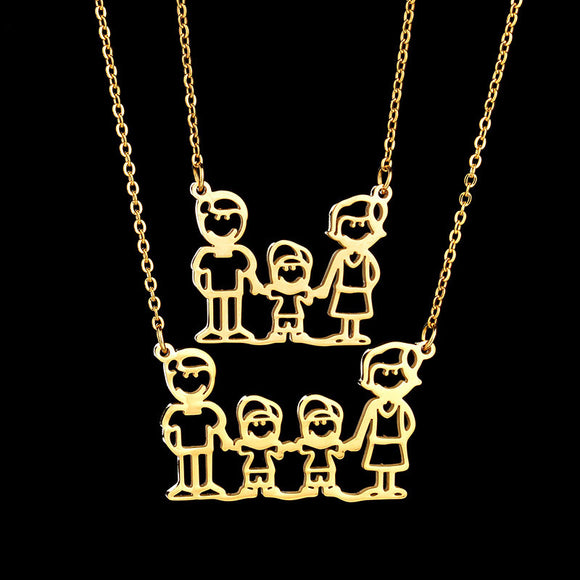 Women Fashion Family Necklace Stainless Steel - Buy1More