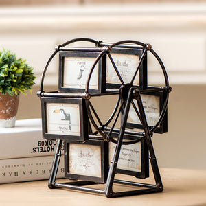 Multi Photo Frames Wheel Rotate Picture - Buy1More