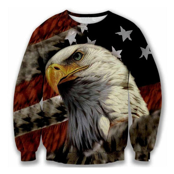 Unisex 3D Print American Flag Eagle - Buy1More