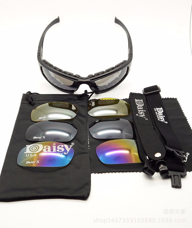 Army Sunglasses Daisy X7  Military Goggles Bullet-proof - Buy1More