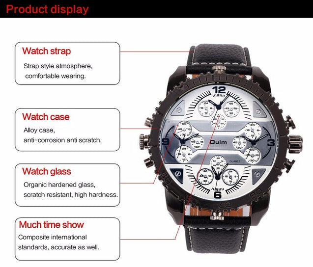 Luxury Watch Leather Band Casual Quartz Movement Wrist Watch - Buy1More