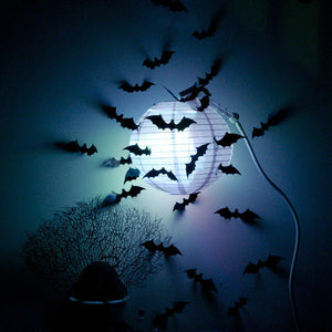 Halloween 3D Bat Decoration Wall Sticker (24Pcs) - Buy1More