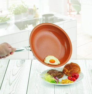Durable Non-stick Copper Frying Pan with Ceramic Coating - Buy1More