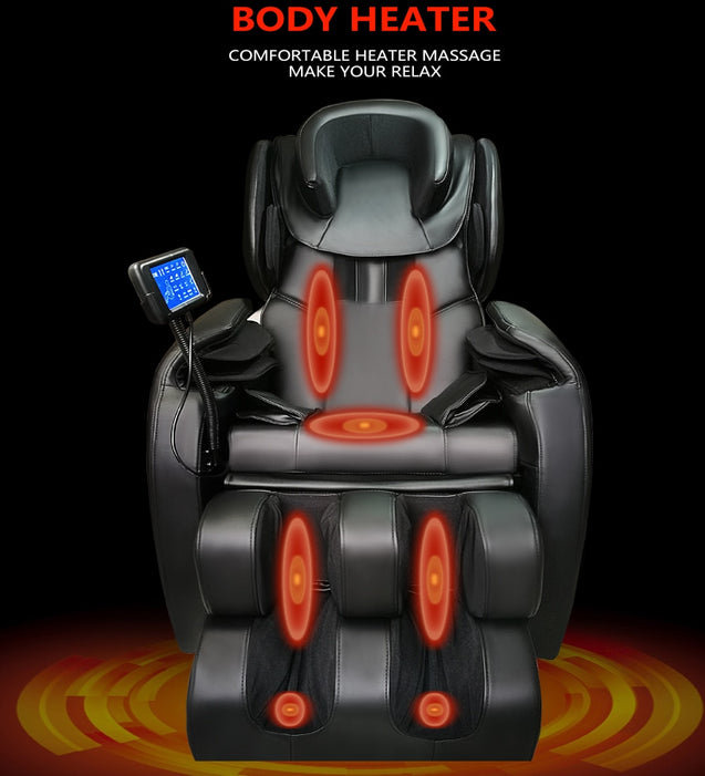 Body Heater Full Featured Shiatsu Chair with Built in Heat Zero Gravity Positioning Deep Tissue Massage - Buy1More