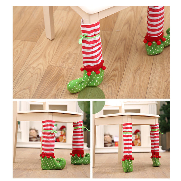 4 Pieces Legs Home Table  Christmas Decoration - Buy1More