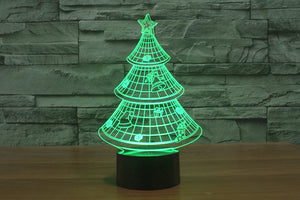Christmas Tree Colorful 3D LED Lamp - Buy1More