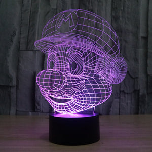 Super Mario Pattern Colorful 3D LED Lamp - Buy1More