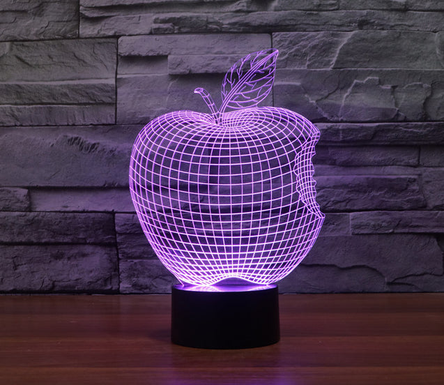 Bitten Apple Colorful 3D LED Lamp - Buy1More