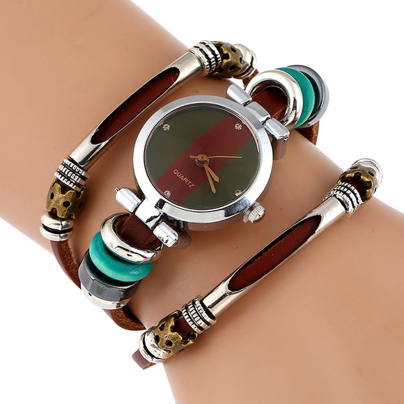 Women Fashion Genuine Bracelet Leather Watch - Buy1More