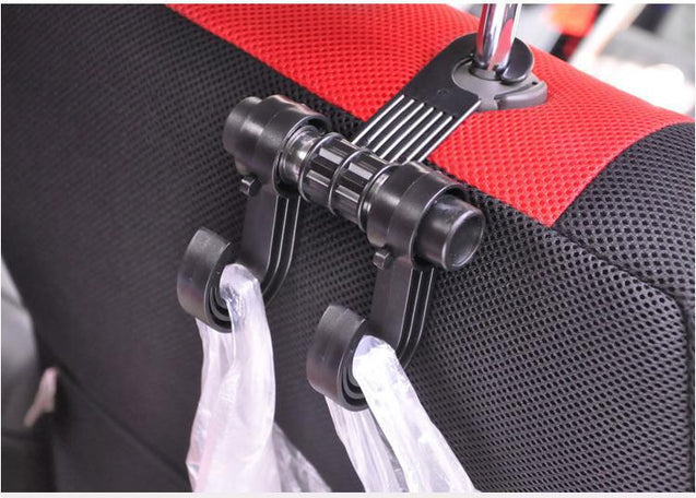 High Quality 2 Pieces/Set Universal Double Hooks Holder For Back Seat Head Rest - Buy1More