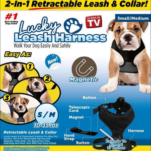 2-in-1 Retractable Leash And Magnetic Harness - Buy1More