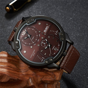 Luxury Fashion Style Big Watch Casual Leather Watch - Buy1More