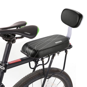 PU Leather Rear Seat With Back Saddle For Bicycle - Buy1More