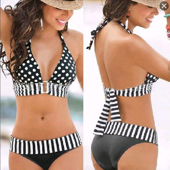 Women  SwimWear Bikini Set Wire Free Two Piece Suits - Buy1More
