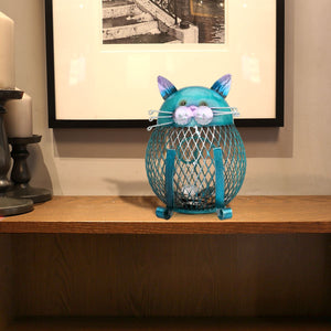 Handcrafts Interior Iron Art Ornament Cat Coin - Buy1More