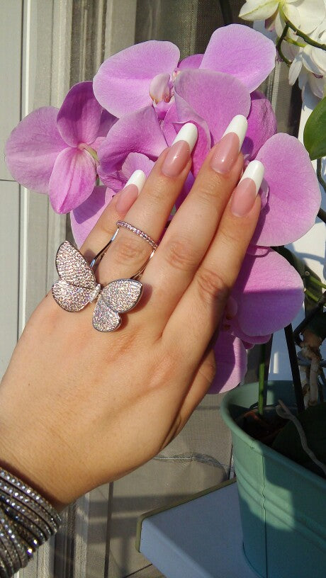 Luxury Ring Zircon Butterfly Ring - Buy1More