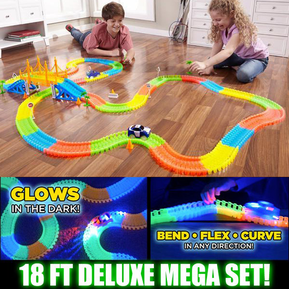 360 Pieces Glowing Racing Mega Set With 2 Cars