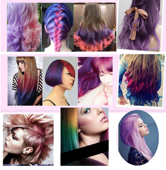 Set of 6 Pieces Colorful Hair Customization