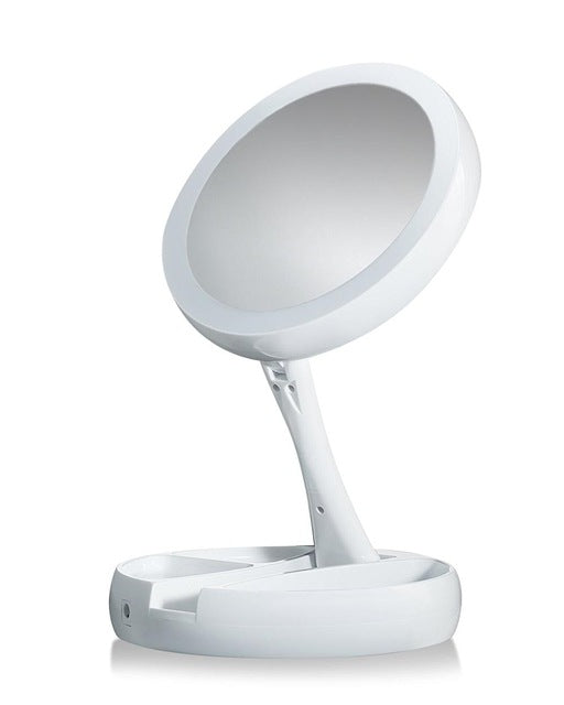 LED Lighted Folding Vanity and Travel Mirror - Buy1More
