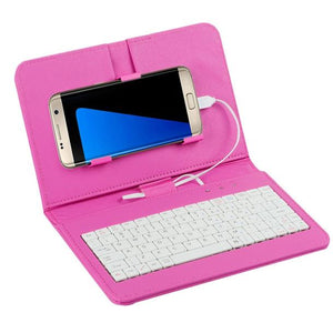 Portable Bluetooth Keypad Phone Stand and Case