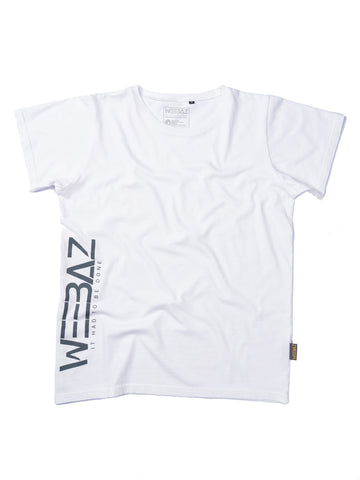 WEEBAZ man - Grey LOGO Short Sleeve T-Shirt - round neck