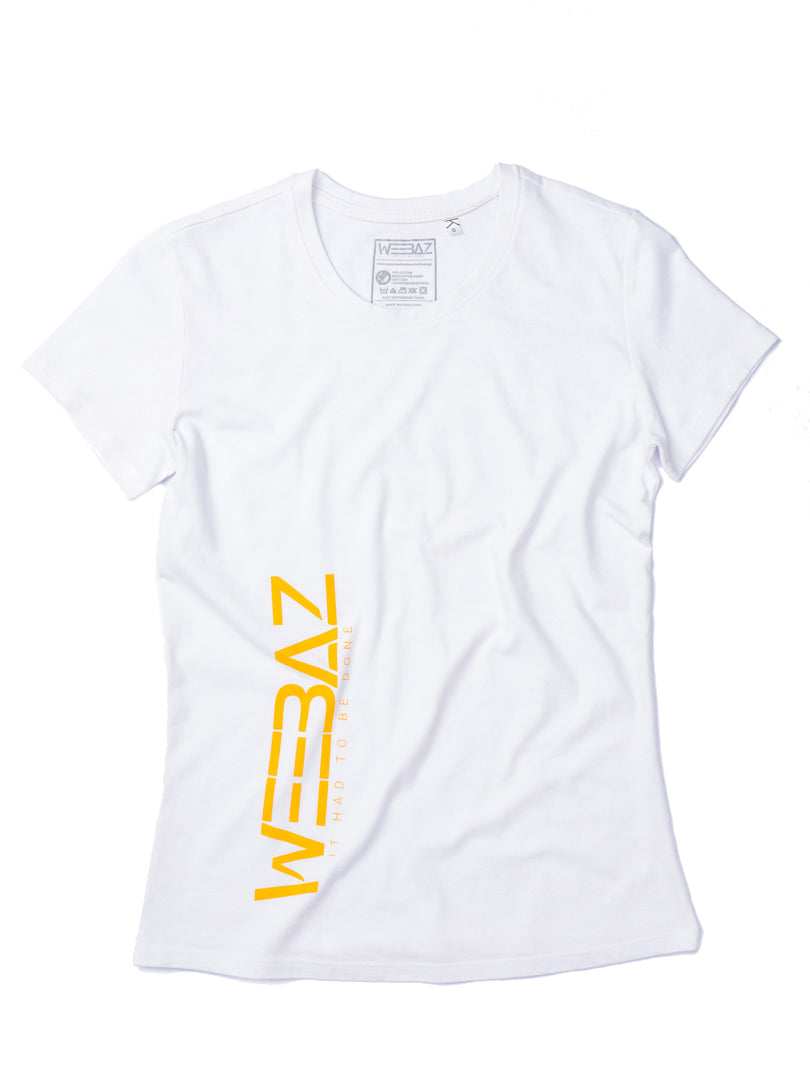 WEEBAZ woman - Orange LOGO Short Sleeve T-Shirt - round neck